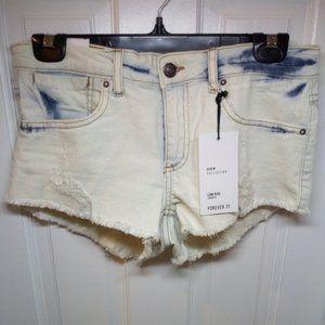 🇺🇸 3/$30 Forever 21 Stonewashed Low-rise Shorts